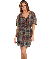 Twelfth Street by Cynthia Vincent - Bahia Salam Lace Up Flutter Sleeve Dress