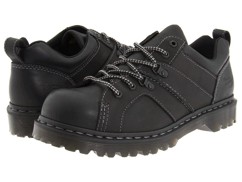 Dr. Martens - Finnegan 6 Tie Shoe (Black Greasy) Men