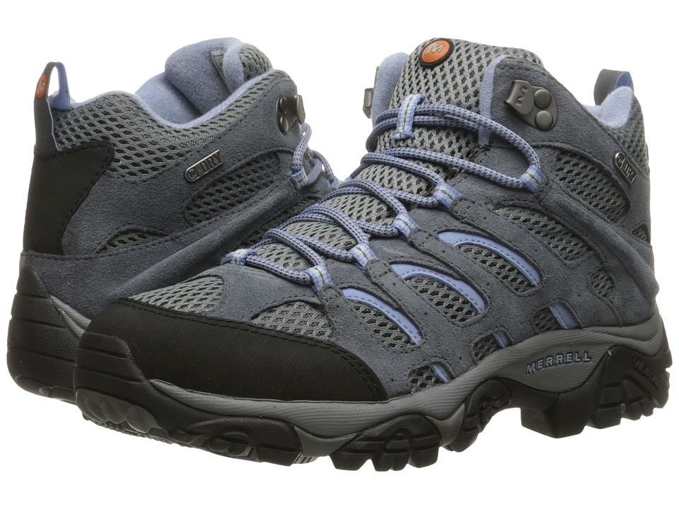Merrell - Moab Mid Waterproof (Grey/Periwinkle) Women