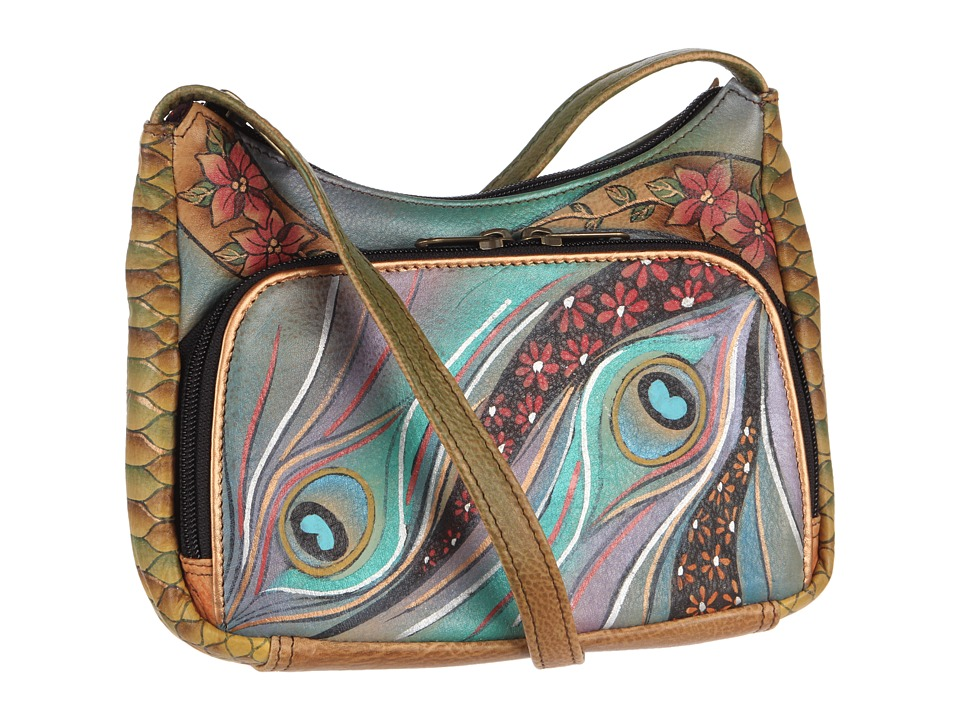 Anuschka Handbags - 481 (Dancing Peacock) Cross Body Handbags