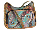Anuschka Handbags - 481 (Dancing Peacock) - Bags and Luggage