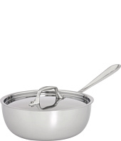 All-Clad - Stainless Steel 2 Qt. Saucier With Lid