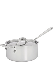 All-Clad - Stainless Steel 3 Qt. Sauce Pan With Loop And Lid