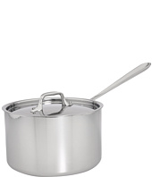 All-Clad - Stainless Steel 4 Qt. Sauce Pan With Lid