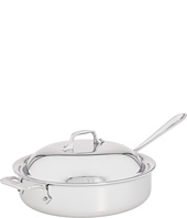 All-Clad - Stainless Steel 4 Qt. Sauté Pan With Domed Lid