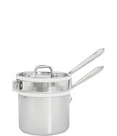 All-Clad - Stainless Steel 2 Qt. Sauce Pan With Porcelain Double Boiler