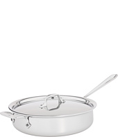 All-Clad - Stainless Steel 4 Qt. Sauté Pan With Lid