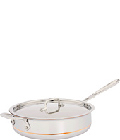 All-Clad - Copper-Core 4 Qt. Sauté Pan With Lid