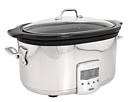 Slow Cooker with Black Ceramic Insert