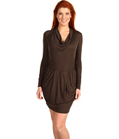 Three Dots - L/S Draped Ryan Dress