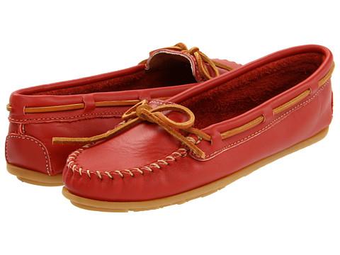 Minnetonka - Leather Moc (Red) - Footwear