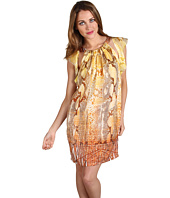 Just Cavalli - Fringed Python Print Flutter Dress
