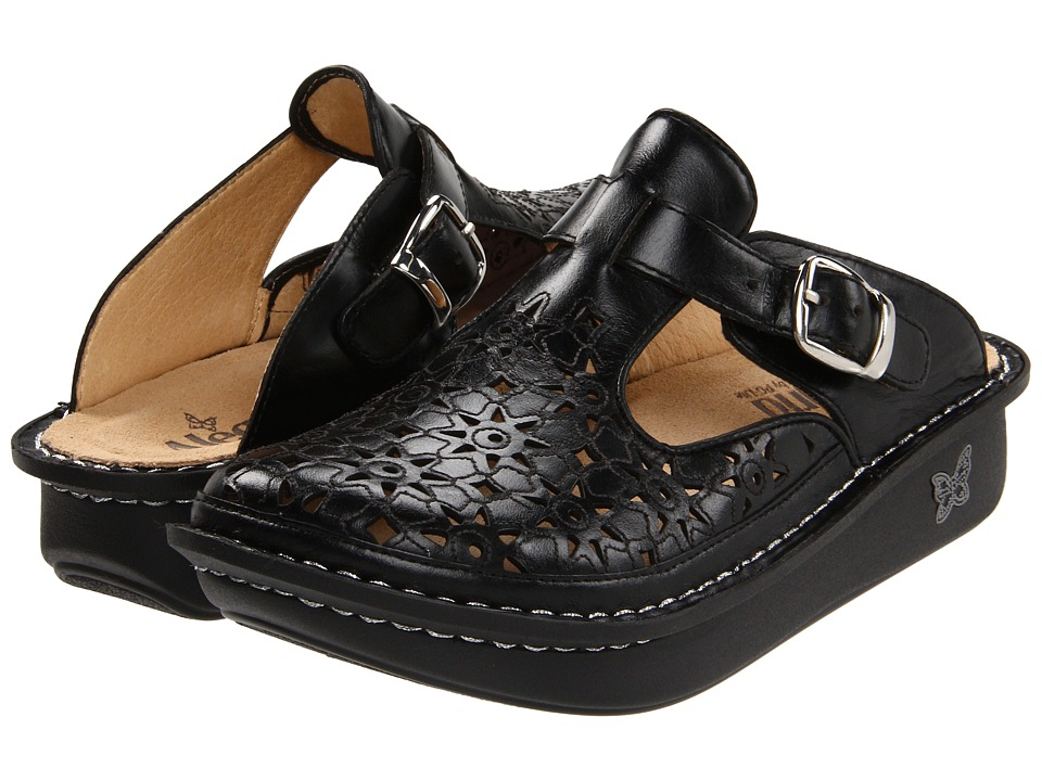 Image of Alegria - Classic Cut Out (Dusty Black Leather) Women's Clog Shoes
