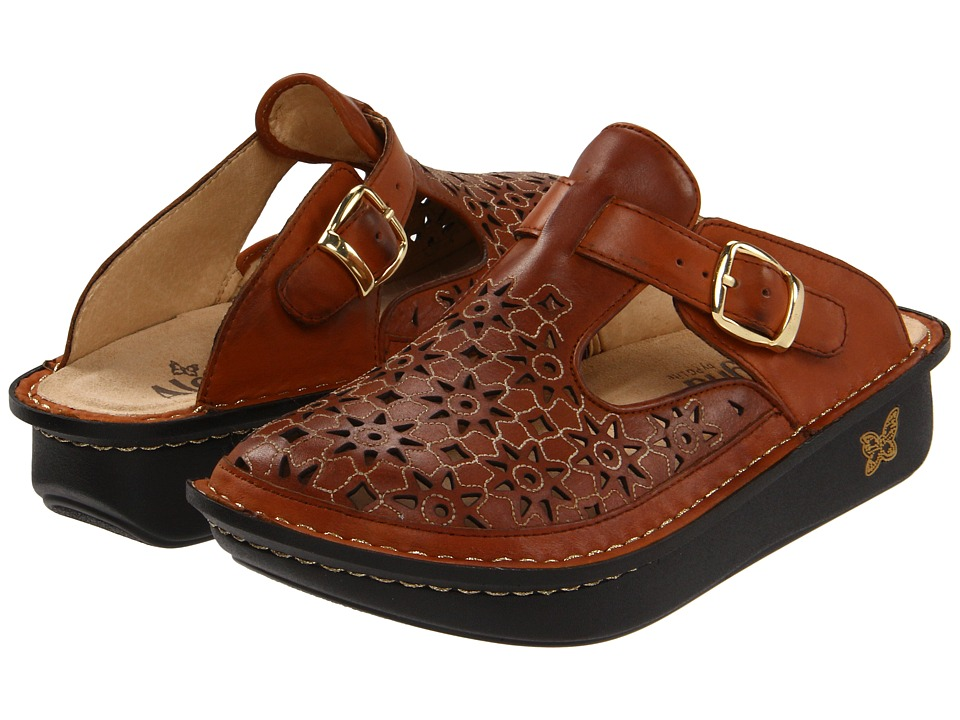 Image of Alegria - Classic Cut Out (Dusty Cognac Leather) Women's Clog Shoes