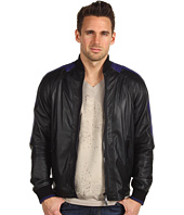 Just Cavalli - Raglan Contrast Leather Jacket