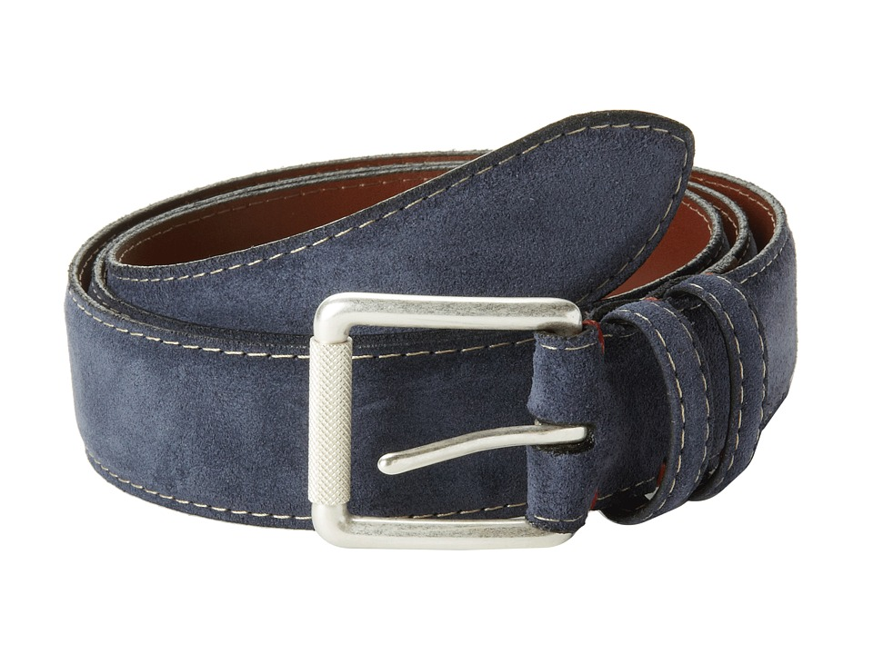 Torino Leather Co. - Ital Calf Suede (Navy) Mens Belts