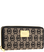 MICHAEL Michael Kors - Monogram Zip-Around Continental Clutch