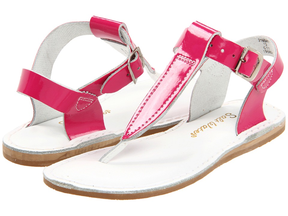 Salt Water Sandals Sun-San T-Thongs (Toddler/Little Kid) (Shiny Fuchsia) Girls Shoes