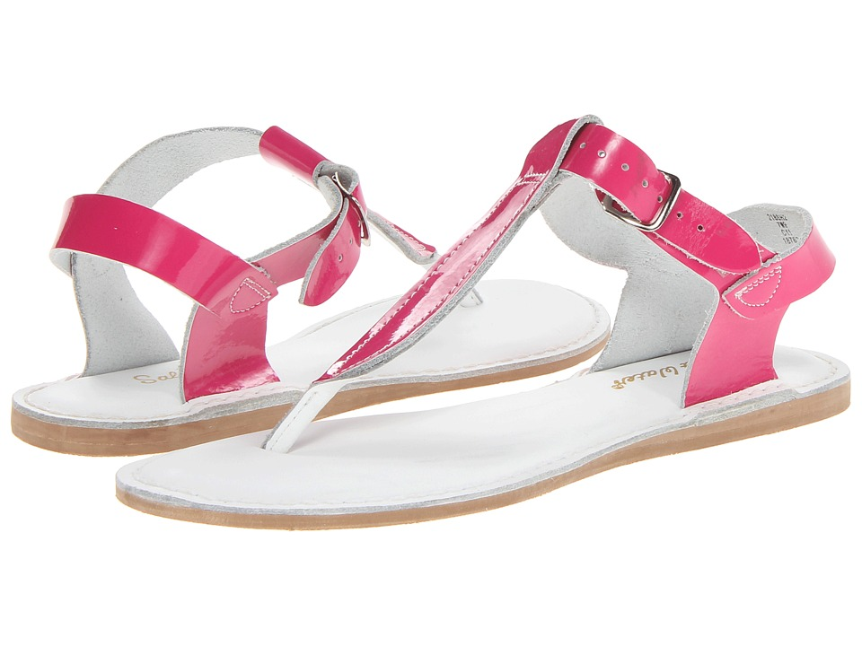 Salt Water Sandals Sun-San T-Thongs (Big Kid/Adult) (Shiny Fuchsia) Girls Shoes