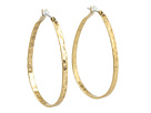 Lucky Brand - Textured Medium Oblong Hoops