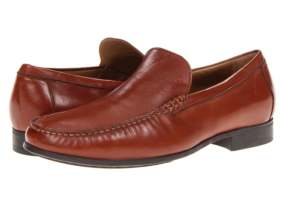 Johnston & Murphy - Cresswell Venetian (Cognac Sheepskin) Mens Slip on  Shoes
