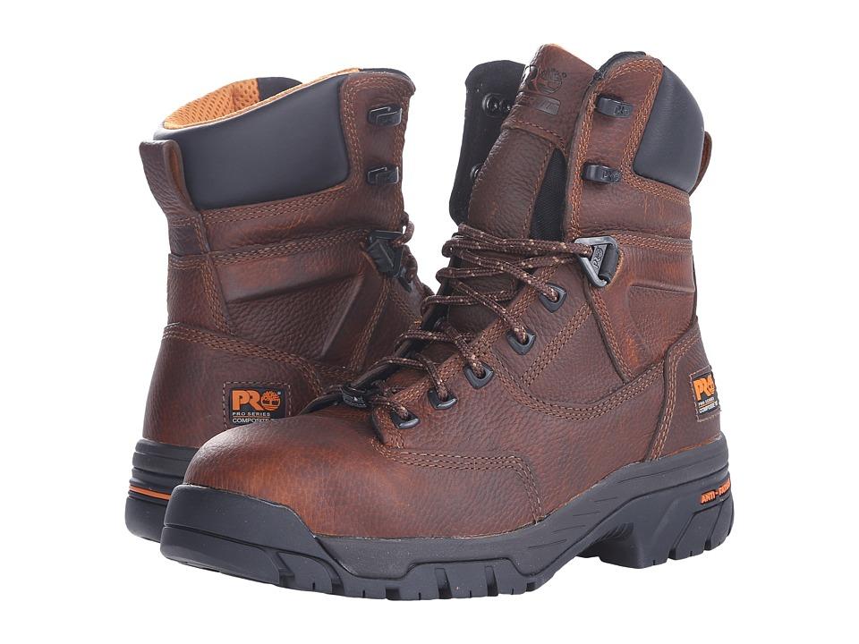 Timberland PRO Helix 8 Waterproof Composite Toe (Brown) Men