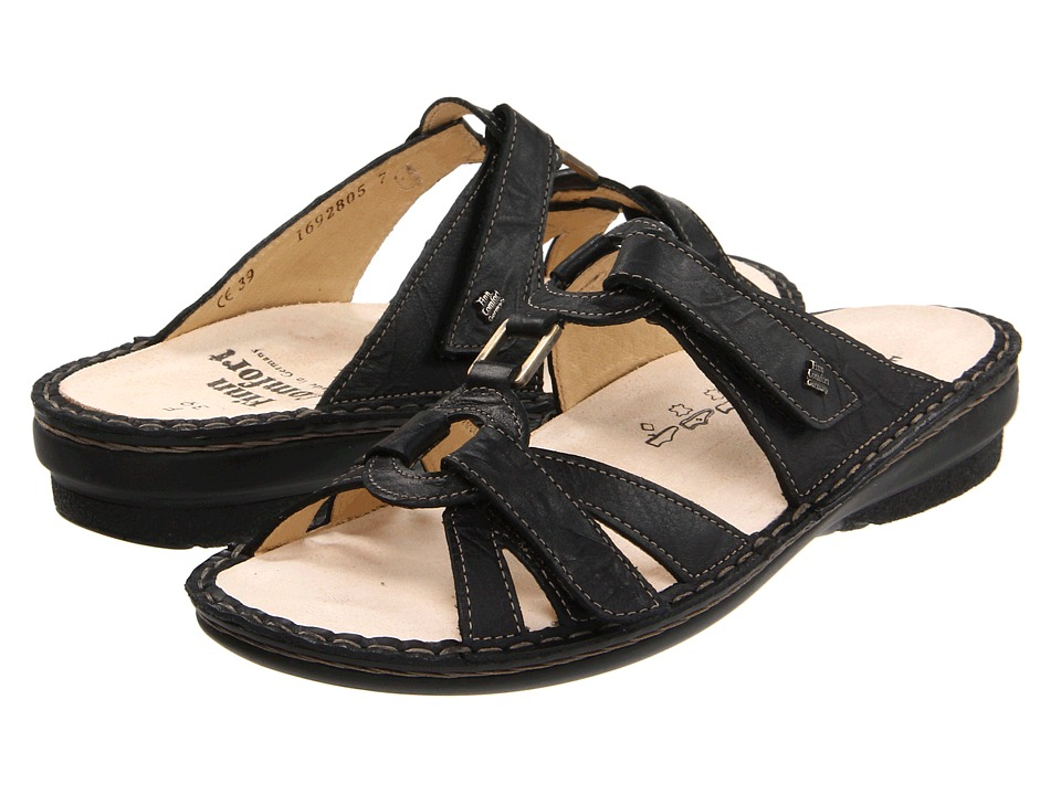 Finn Comfort Soft Cebu 82800 Black Plissee Light Womens Sandals