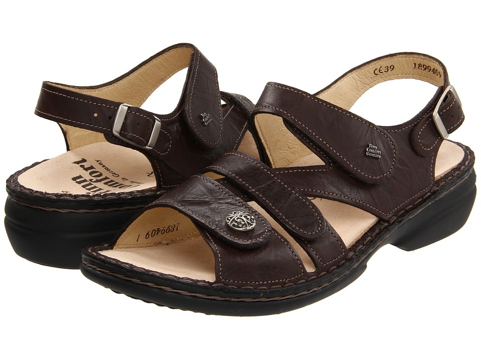 Finn Comfort Gomera 82562 Kaffee Plissee Light Womens Sandals