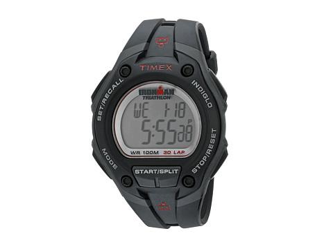 Timex IRONMAN® 30-Lap Mega Silver w/Black Resin Strap Sports Watch - Black/Grey