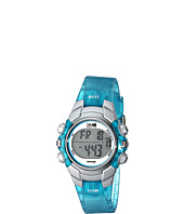 Timex - 1440 Sports Digital Silver Case Translucent Blue Strap Watch