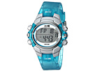 1440 Sports Digital Silver Case Translucent Blue Strap Watch