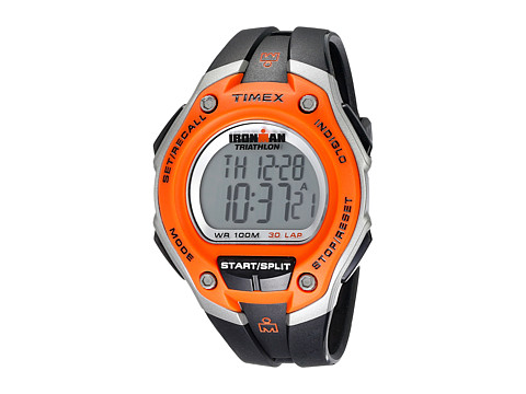 Timex IRONMAN® 30-Lap Oversize Watch - Orange/Silver