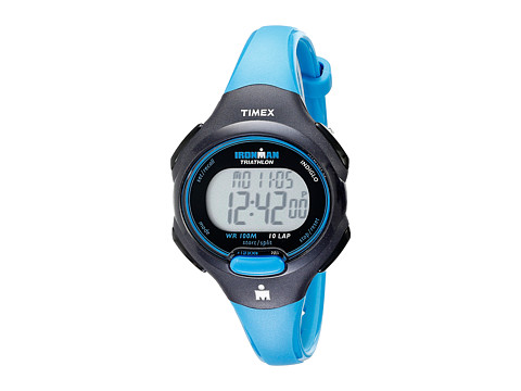 Timex Sport Ironman Blue and Black Mid Size 10 Lap Watch - Black/Blue