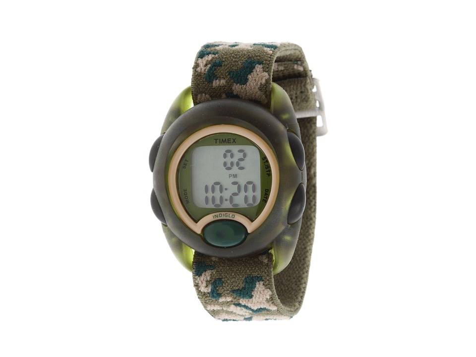 Timex Childrens Camouflage Digital Stretch Band Watch Green Watches