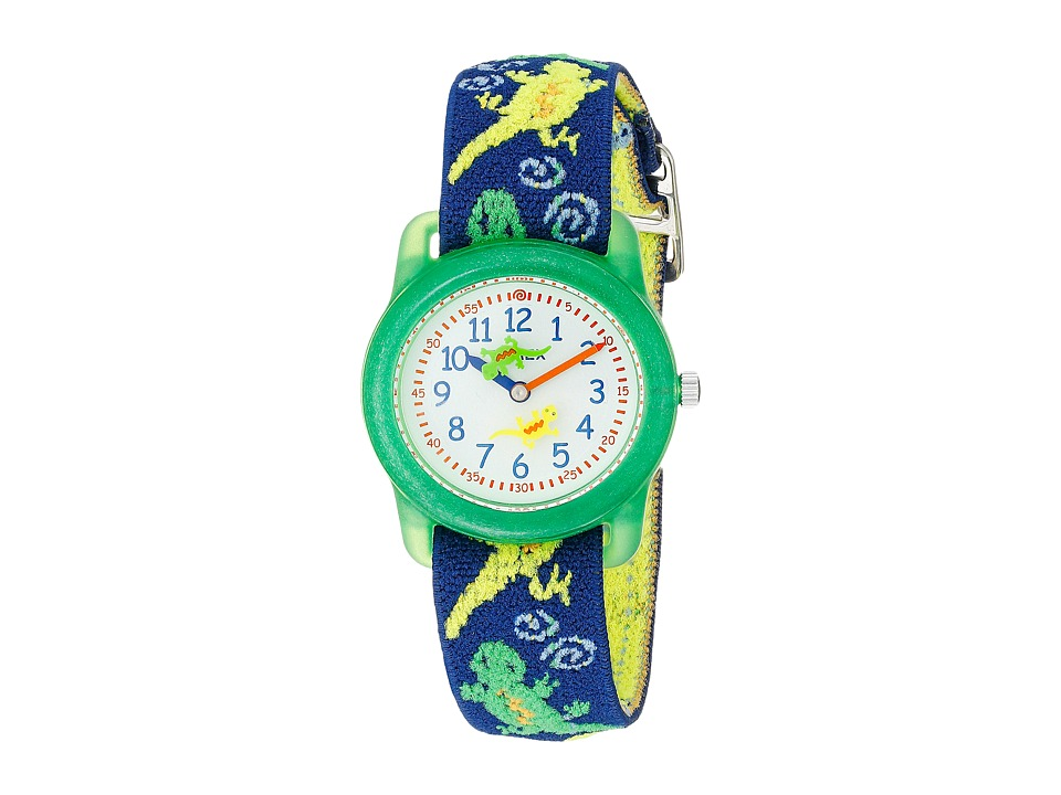 Timex Childrens Geckos Stretch Band Watch Green Watches
