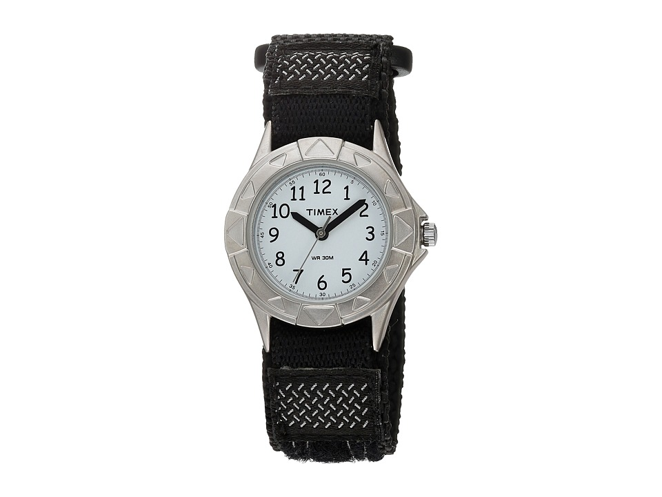 Timex Childrens My First Outdoor Black Fast Wrap Watch Silver Watches