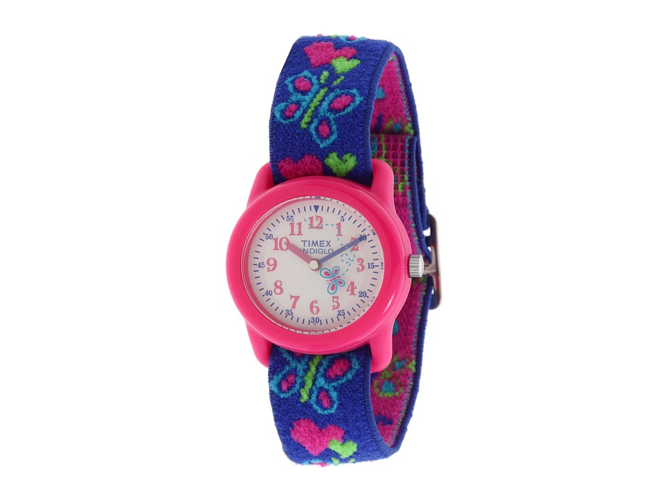 Timex Childrens Hearts and Butterflies Stretch Band Watch Pink Watches