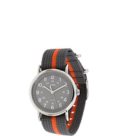 Timex - Weekender Gray and Orange Slip Through Strap Watch