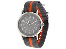 Weekender Gray and Orange Slip Through Strap Watch