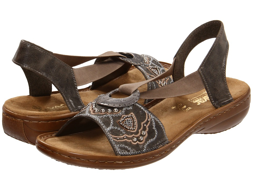 Rieker Antistress 608B9 Regina B9 (Smoke) Women's Sandals
