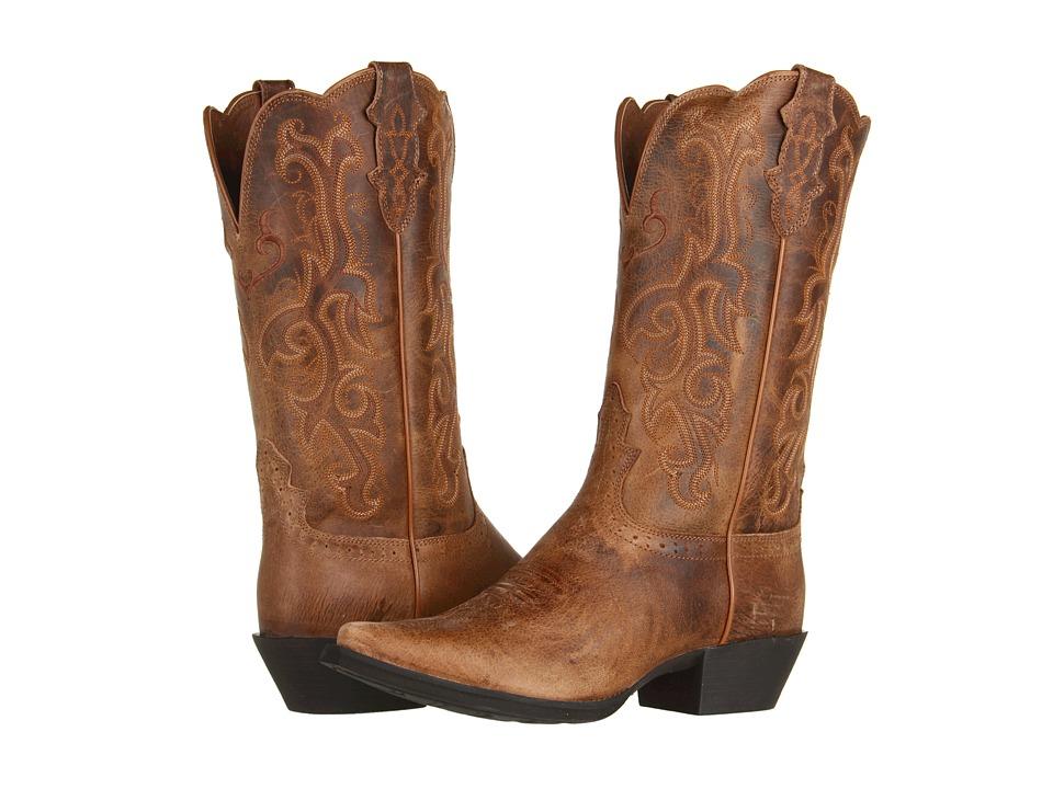 Justin - McKayla (Tan) Cowboy Boots