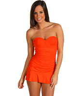 Calvin Klein - Solids Shirred Swim Dress