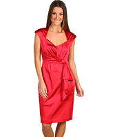 Jax - Extended Cap Sleeve Dress w/ Draped Front