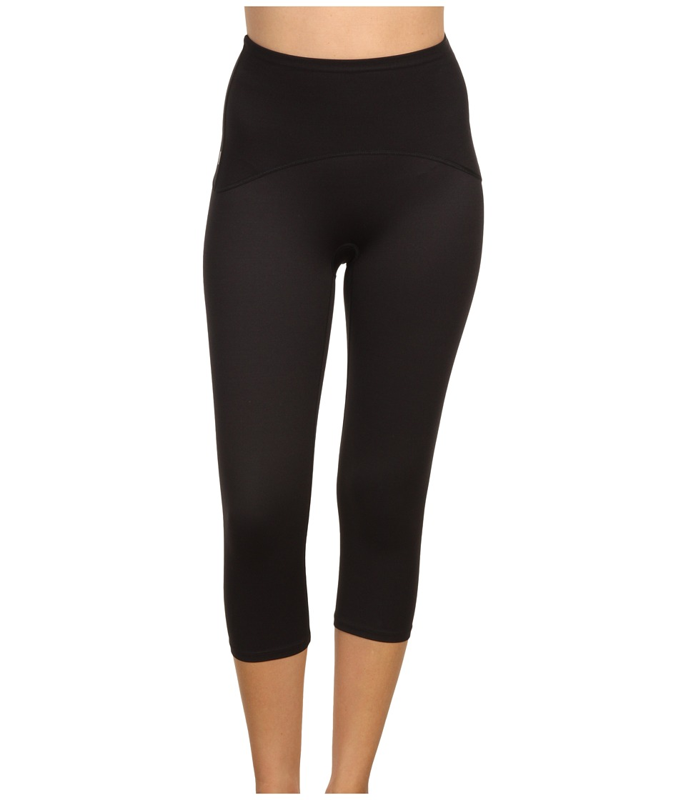 Spanx Active Shaping Compression Knee Pant Black Womens Workout