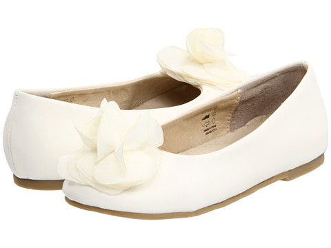 Pazitos Silk Rose BF PU (Toddler/Little Kid/Big Kid) - Ivory