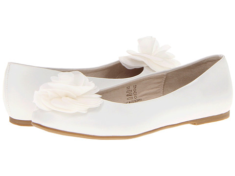 Pazitos Silk Rose BF PU (Toddler/Little Kid/Big Kid) - White