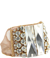 Chan Luu - Silk Chiffon Bracelet Trim With Chain And Crystal