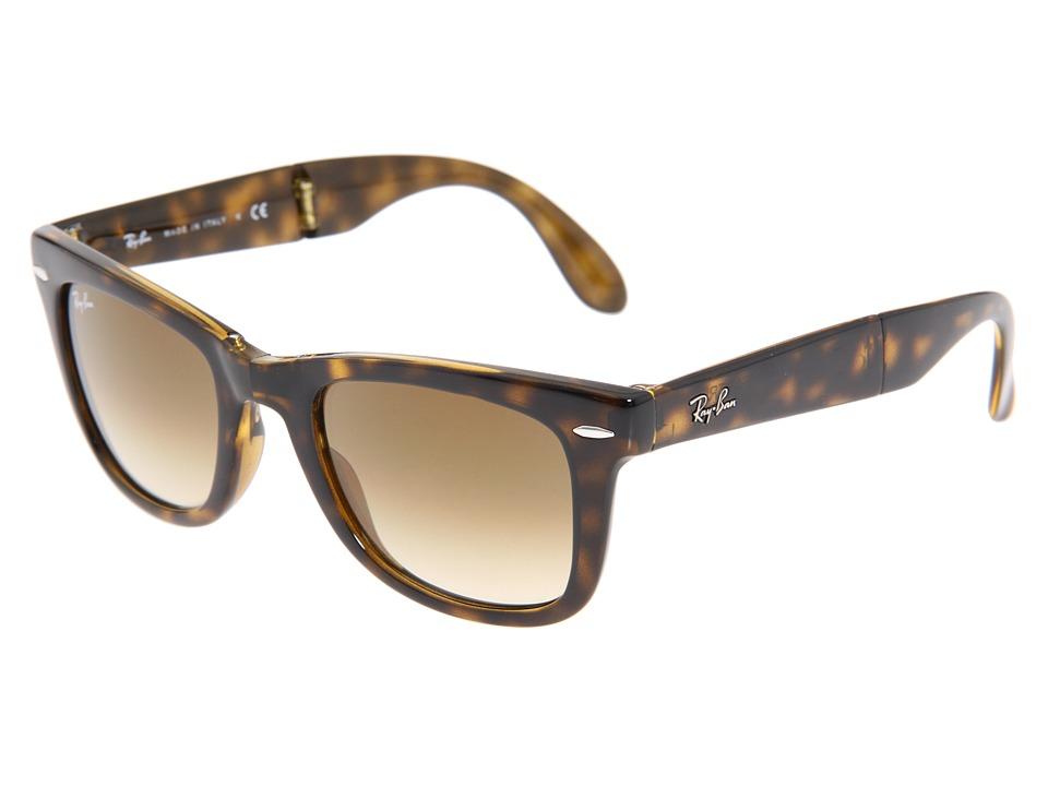 Ray-Ban RB4105 Wayfarer Folding 50mm (Light Havana/Gradient Lens) Plastic Frame Fashion Sunglasses