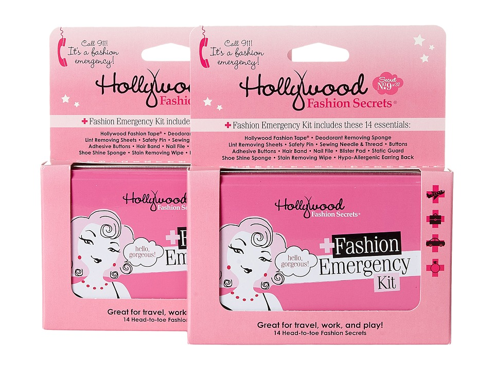 Hollywood Fashion Secrets Fashion Emergency Kit Double Pack Various Cleaners