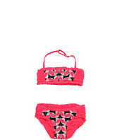 Little Marc Jacobs - Tou Can Do It Pull-On Ruffled Smocked Bandeau Bikini Set